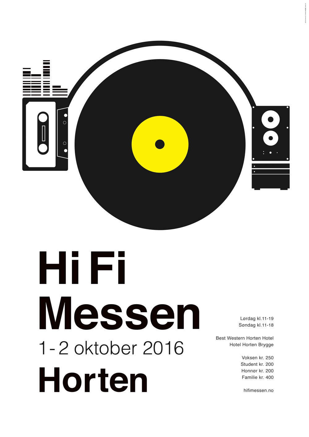 Besøk Hi Fi Messen i Horten 2016- 1-2 Oktober